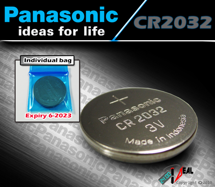 6 pcs new panasonic cr2032 cr 2032 batteries 3v lithium. Black Bedroom Furniture Sets. Home Design Ideas